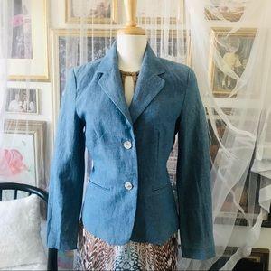 Sky Blue Linen & Cotton Blazer NWOT